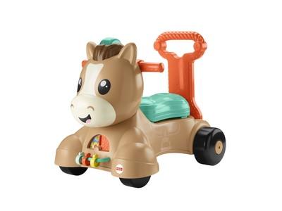 お子さまの運動能力向上をサポート!成長に合わせて手押し車や乗用おもちゃとして3WAYで長く使用できる『のって!はずむよ!バイリンガル・ポニーウォーカー』5月上旬より発売
