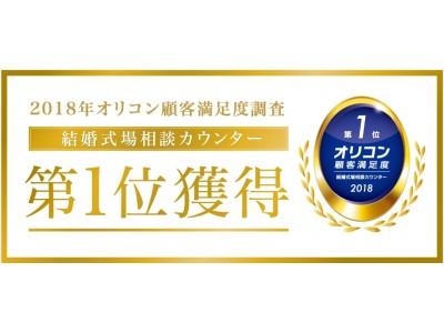 ハナユメがオリコン顧客満足度『結婚式場相談カウンター』の第1位を2年連続で獲得