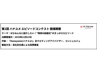 「第1回 ハナユメ エピソードコンテスト」を開催