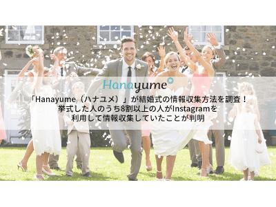 「Hanayume(ハナユメ)」が結婚式の情報収集方法を調査!挙式した人のうち8割以上がInstagramで情報収集していたことが判明