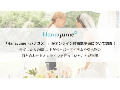 「Hanayume(ハナユメ)」がオンライン結婚式準備について調査!