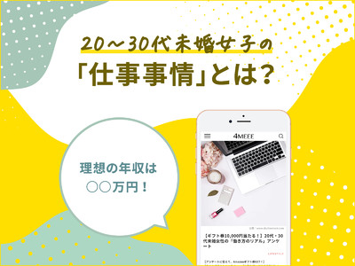 年収、理想と現実のギャップは約150万円!女性のワークスタイルをWEBメディア『4MEEE』が調査