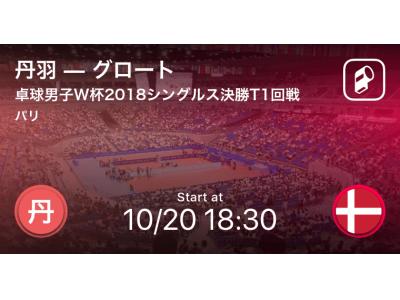 卓球男子ワールドカップ2018をPlayer!がリアルタイム速報