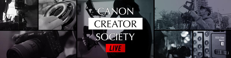 クリエイターが一堂に会するライブ配信イベント「Canon Creator Society LIVE」を開催
