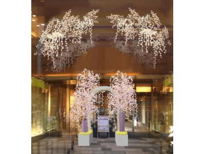 【マロニエゲート銀座1】東京インフィオラータ2019とタイアップした春装飾『Flowering  Days 花盛りの日々』を3/11(月)より開催!