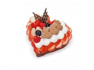 """「恋が実ってほしい」の想いを込めて!いちご""""恋みのり""""を使用したカフェコムサのバレンタイン限定ケーキ発売"""