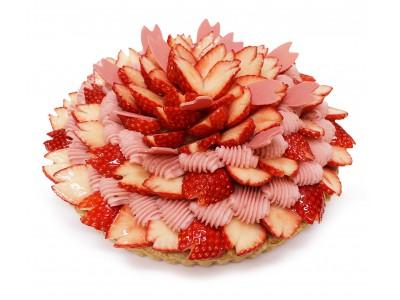 フレッシュフルーツで美しい日本の桜を表現!春を感じる桜のケーキを発売