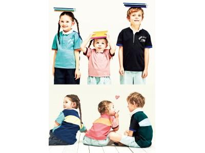 元気な子供達にぴったり!コムサ・フィユがカラフルなラガーシャツを発売
