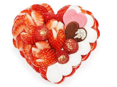 恋(縁)が実りますように!パティシエが選び抜いたいちご「恋みのり」を使用したバレンタイン限定ケーキ