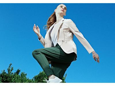 着ると明るくアクティブな気分に!人気のジャージー素材でジャケット初登場