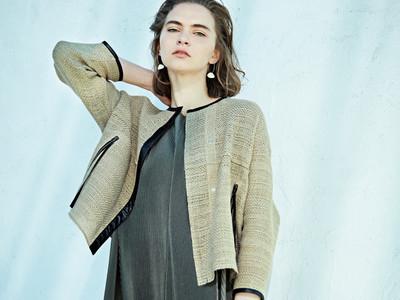 自然の癒しを感じる羽織りジャケット!麻ならではのナチュラルな素材感を大切につくりました。