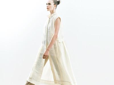 紙から生まれた糸!「抄繊糸」でつくるシャツワンピースがギャバジン K.Tより登場