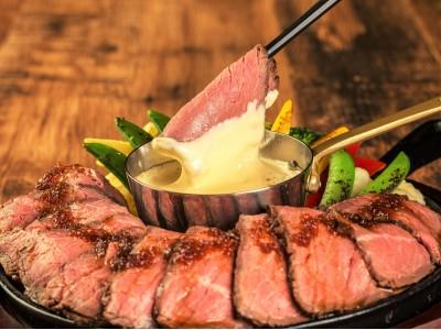 肉×チーズの贅沢コラボ!ローストビーフにチーズフォンデュが食べ放題で1,980円!「ニッチーズ 静岡店」にて提供