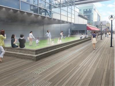 人工芝×ドライミストでお台場「デックス東京ビーチ」に新たな憩いの場を創出。「シーサイド広場」 2018年9月22日(土)開設