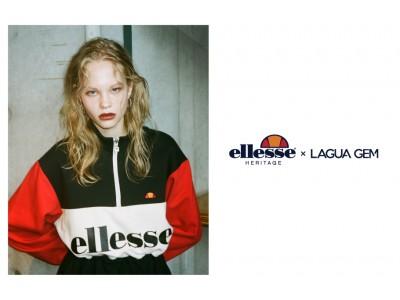 モデル・モーガン 茉愛羅氏が撮り下ろしたLAGUA GEM(ラグア ジェム)×ellesse HERITAGEとのコラボコレクション