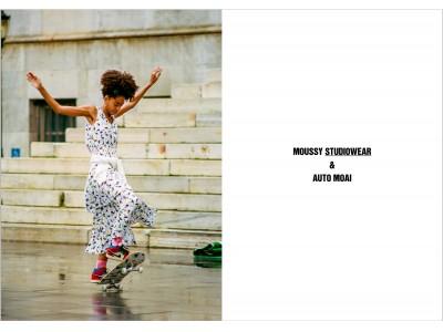 MOUSSY STUDIOWEAR(マウジースタジオウェア)アーティストのAUTO MOAI(オートモアイ)氏とのコラボレーションコレクションを発表