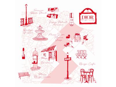 伊勢丹新宿に7日間限定で出現!パリの美しい街並みが楽しめるディオール ルージュ シティ