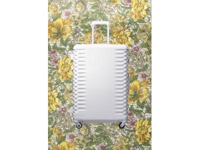 プロテカより、リバティ・プリントの内装を採用した限定の純白スーツケース発売