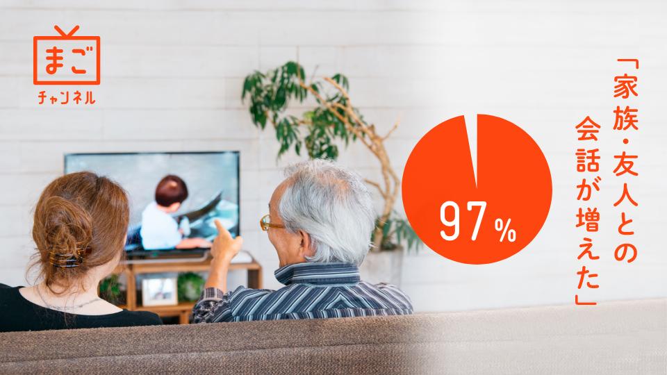 家族をつなぐ「まごチャンネル」利用者の97%が家族・友人との会話増。専門家「身近な人との交流は高齢者の健康や生活の質の維持・向上に重要」