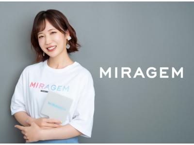 「コスメヲタちゃんねるサラ」のブランド「MIRAGEM」新商品「パールハンドミラーSQ」「オーバーサイズグラデーションロゴTシャツ」発売開始!