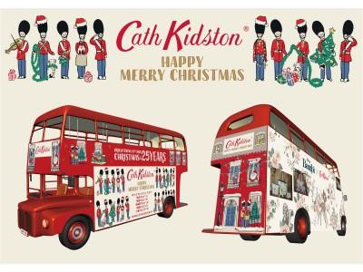 キャス キッドソンがアイコニックなクリスマスデザインとディズニーコラボレーション『バンビ』でラッピング装飾されたロンドンバスでイルミネーションスポットを走行する無料のシャトルバスを運行。