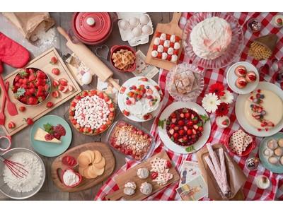【ヒルトン東京お台場】アメリカンキッチンで大切な人へのスイーツ作りをイメージした赤と白のストロベリーデザートビュッフェ「Girl's Sweets Kitchen」