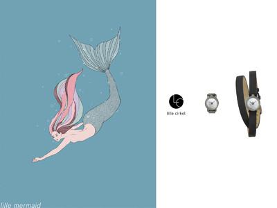 リングウォッチブランドlille cirkelから、美しくも儚い人魚モチーフのリングウォッチが登場。