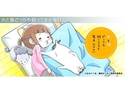 アニメ『犬と猫どっちも飼ってると毎日たのしい』のデザインが登場!オンデマンドシールアプリ「ぺたっときゃら」に新アイテム登場
