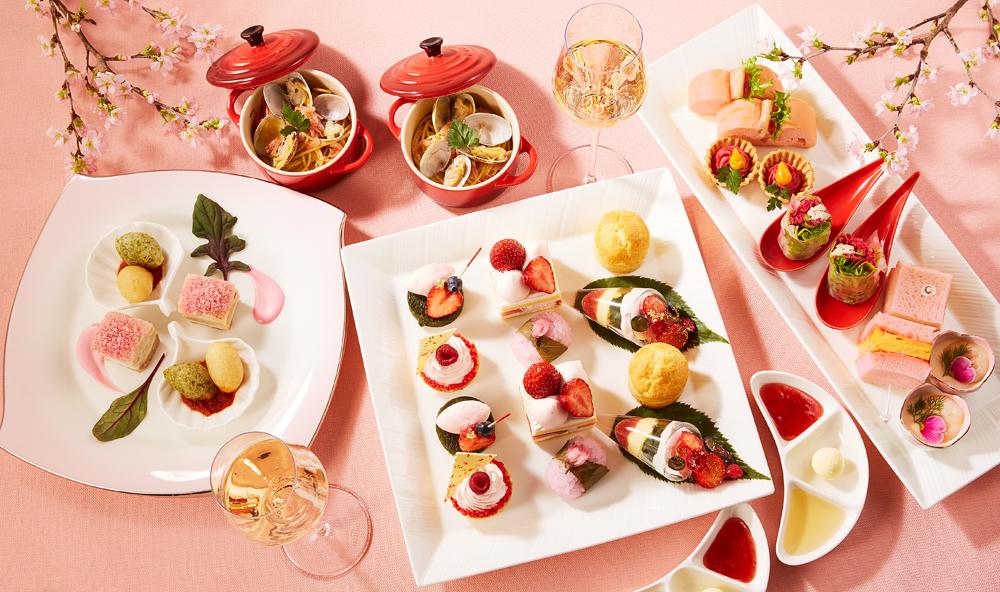 【東京プリンスホテル】桜を眺めながら楽しむ、桜をテーマにしたアフタヌーンティーとハイティーを販売 画像