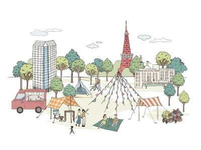 ザ・プリンス パークタワー東京、東京プリンスホテル 近場でリフレッシュ!東京タワーを望める緑豊かな都心の庭園でピクニックイベント「PARK DAY」を開催