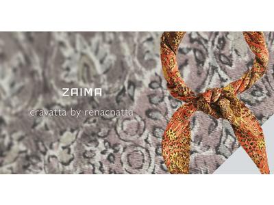 TBMが運営するECサイト「ZAIMA」、着られなくなった着物をアップサイクルしたファッション小物「cravatta by renacnatta」の販売を開始