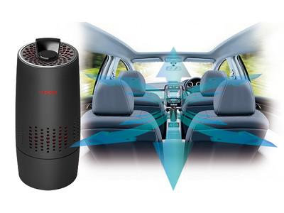 除菌成分を通常の約6倍※のスピードで車内に拡散する除菌・消臭機