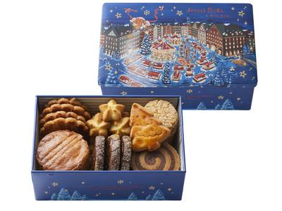 焼きたてフィナンシェが代表商品の「ノワ・ドゥ・ブール」からクリスマスギフトに絵本のような可愛いイラストのオリジナル缶入りクッキー『サブレ・アソルティ(ノエル)』を限定販売。