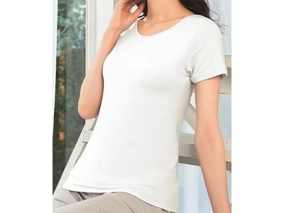 4月16日 数量限定発売  「着るモイスチャライザー カップ付きフレンチ袖」      着るタイプの化粧品からカップ付きインナーが登場
