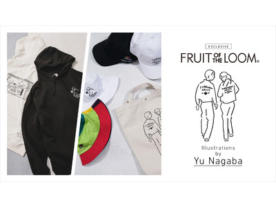 Fruit of the Loom×Yu Nagaba×nano・universeのコラボアイテムが発売。