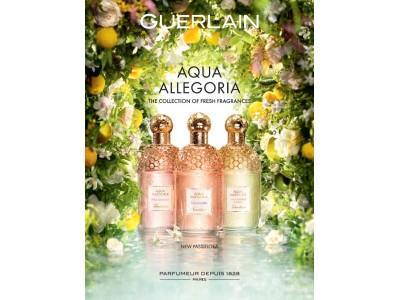 """ゲラン フレグランス 「アクア アレゴリア」に、2種の新たな香りと3種の復刻版が登場 """"ジョイフル""""をテーマに全10種類のフレグランスを展開"""