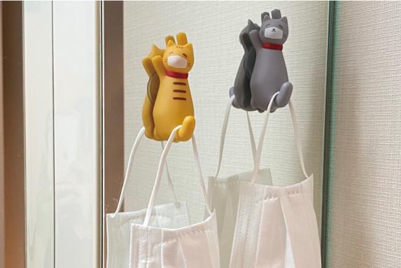 【猫型フック】ピタッとくっつく吸盤フック、ヴィレヴァンオンライン店で取り扱い開始!!