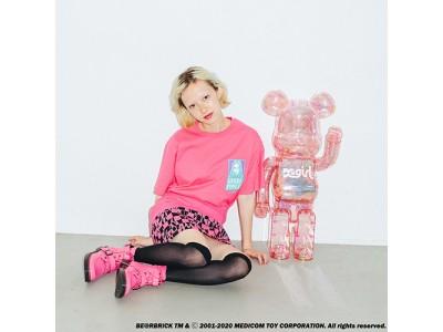 X-girl (エックスガール) とメディコム・トイ社による「BE@RBRICK (ベアブリック)」のコラボレーションが5月16日(土)発売