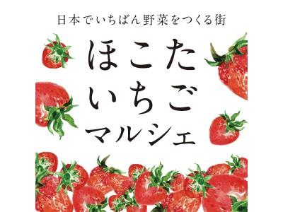 苺の美味しい季節が来た!日本でいちばん野菜をつくる街 茨城県鉾田市が産地直送の苺をお届け!<ほこたいちごマルシェGINZA>を開催します。