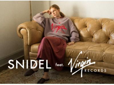 『SNIDEL』と英国の独立系レコードレーベル『Virgin RECORDS』待望のフィーチャリングコレクションが11月1日(金)に発売!