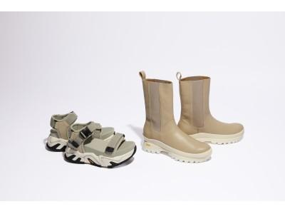 「SNIDEL(スナイデル)」と世界的な靴底材メーカー「Vibram(ヴィブラム)」初のコラボレーションが実現!サンダルとレインブーツの計2型が6/5(金)より順次、全国店舗にて発売。