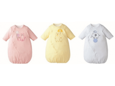 84781770ba6b8 赤ちゃんの着替えの大変さを軽減する簡単時短アイテム 短肌着とドレス ...