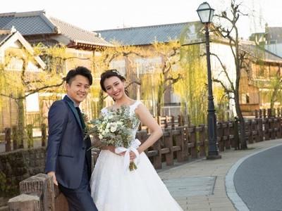 【結婚するなら佐原へござれ】アフターコロナに向けてまちが一体となり、地元婚を応援!「さわら祝言」をテーマに、香取神宮での模擬挙式や花嫁舟など体験型の結婚式イベントを開催。