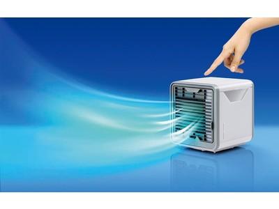 テレワーク中の温度調節に!お部屋の換気中でもヒンヤリ快適に!コロナ禍の夏のお悩みに役立つ、涼しさを持ち運べるパーソナルクーラー「ここひえ」の最新モデル発売