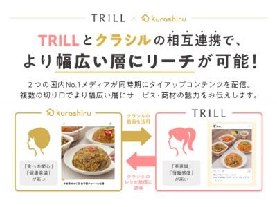 「クラシル」と「TRILL」がタイアップを開始 第一弾は「すき家」を女性向けにPR