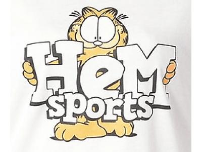 「ガーフィールド」×「HeM sports」の限定コラボレーションアイテムが登場!4月より全国のスポーツオーソリティにて販売開始!