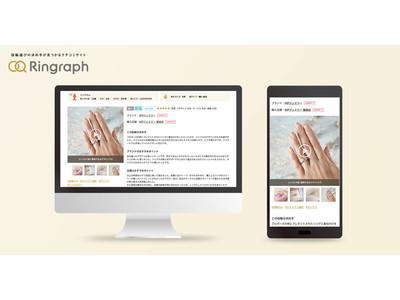 婚約・結婚指輪のクチコミサイト「リングラフ」ブライダルジュエリー業界初!ダイヤモンドの輝きや指輪のテクスチャーが伝わる、動画付きクチコミをリリース
