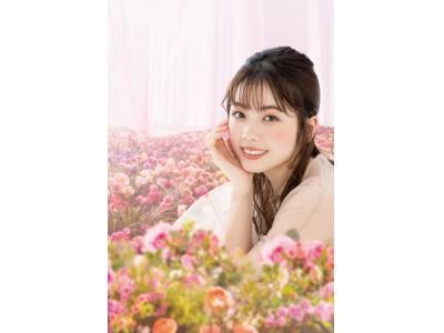 小芝 風花さんがCANMAKE新イメージモデルに就任 新CM撮影では、一面に広がるロマンチックなお花畑に感動!