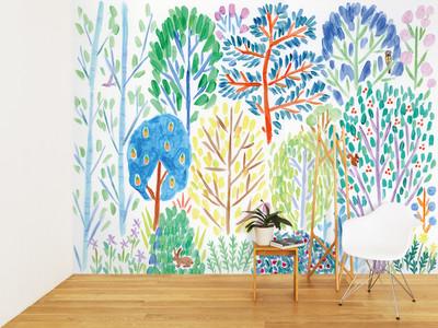 壁紙ブランドWhOより美術作家・佐々木愛の新作。家に居ても「旅」を感じる壁紙3点、2020年9月4日(金)リリース
