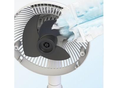 サーキュレーターも扇風機もこの1台で やさしい微風から撹拌するパワフル送風までできる 「サーキュレーター扇風機」を新発売